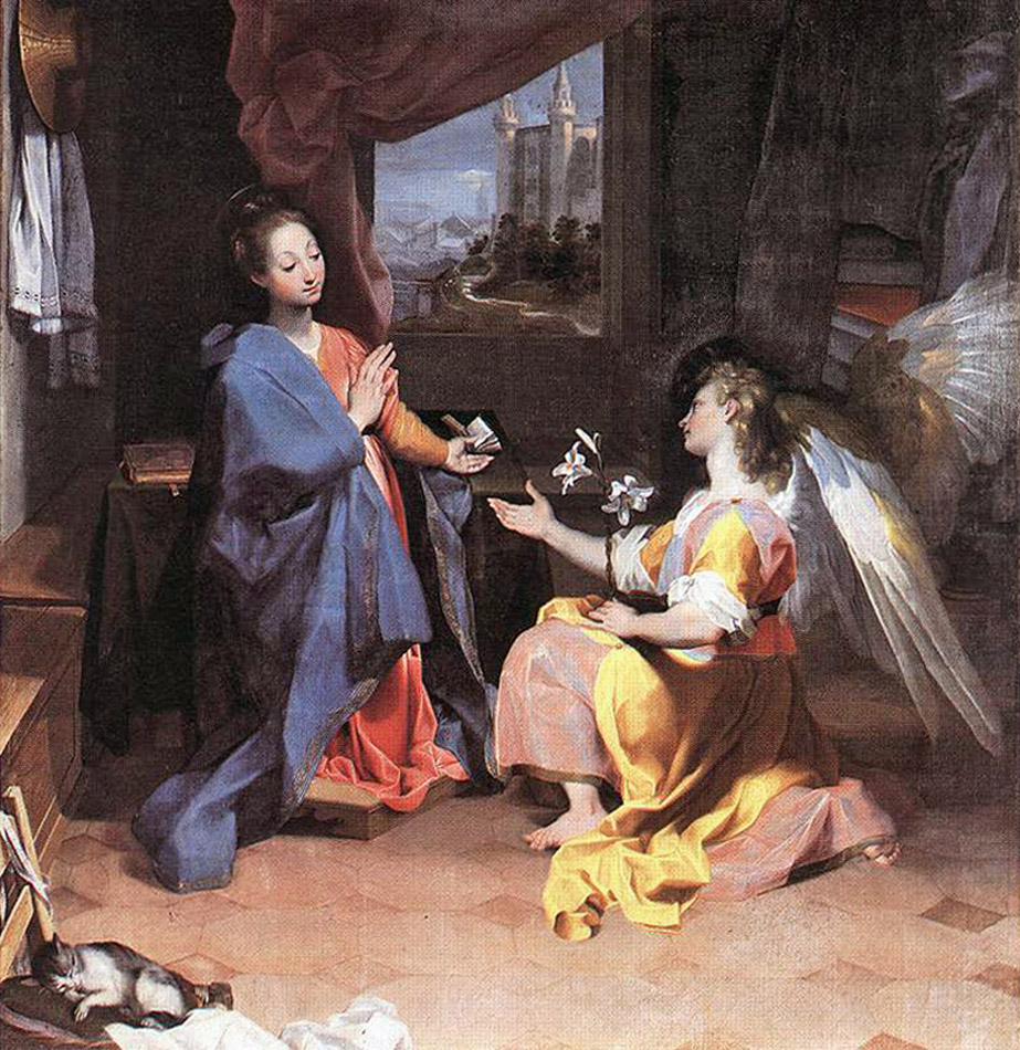 Federico Barocci - The Annunciation of the Angel Gabriel to Mary, Santa Maria degli Angeli, Perugia, Italy, 1592.