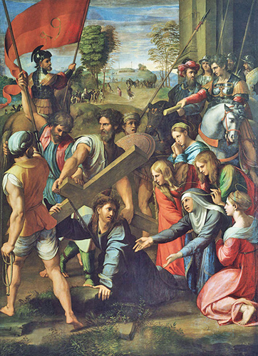 Raphael - Christ Falls on the Way to Calvary, Museo del Prado, Madrid, 1515.