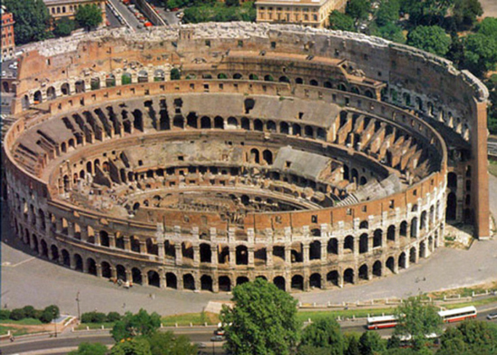 The Coliseum of Rome, a place of Christian martyrdom.
