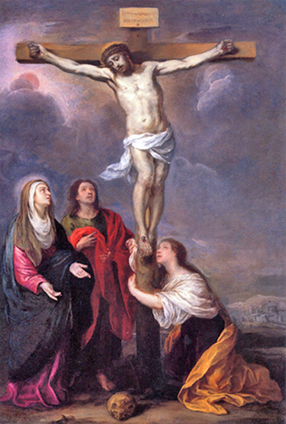 Bartolomé Esteban Murillo of Seville, Spain - Crucifixion of Jesus, Hermitage, St. Petersburg, Russia, 1682.