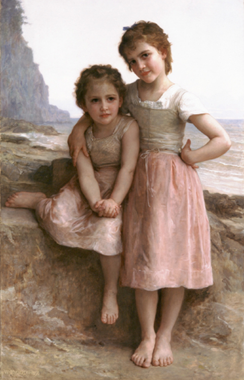 William Bouguereau - On the Rocky Beach, La Rochelle, France, 1896.