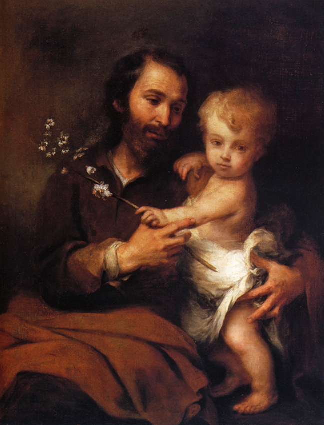 Bartolomé Esteban Murillo of Seville, Spain - St. Joseph and the Christ Child, Ringling Museum of Art, Sarasota, Florida, 1670.