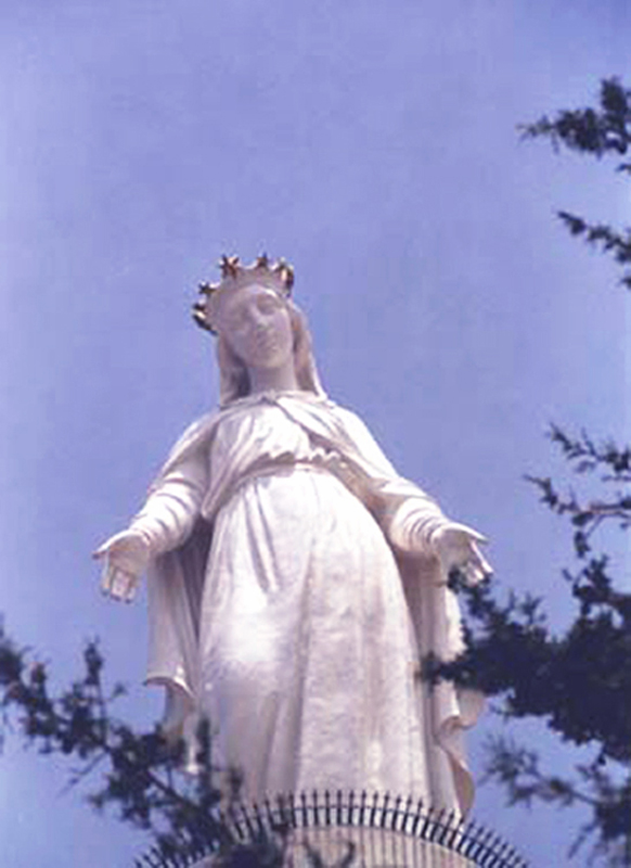 Our Lady of Lebanon, Harissa, Lebanon. Courtesy of Ina Rihani and Our Lady of Lebanon Maronite Church, Washington, D. C.