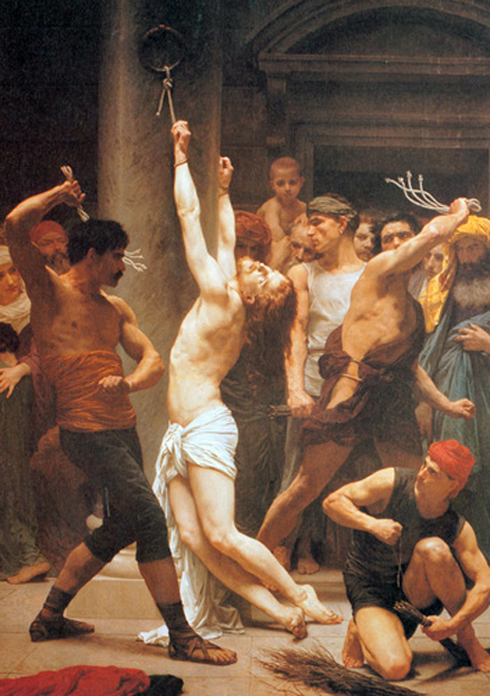 William Adolphe Bouguereau - The Scourging at the Pillar, La Rochelle Cathedral, France, 1880.