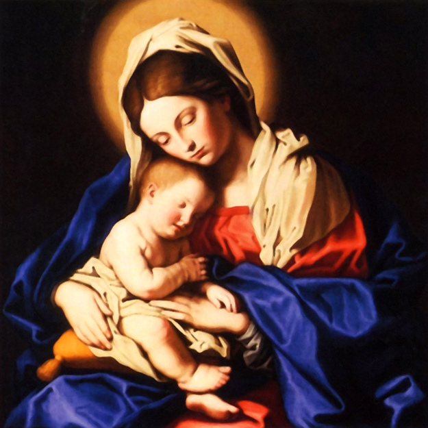 Giovanni Battista Salvi, known as Sassoferrato - Madonna and Child, 1655.