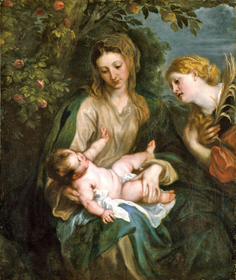 Anthony van Dyck of Antwerp, Belgium - Madonna and Child with St. Catherine, Courtesy of the Metropolitan Museum of Art, 1630.
