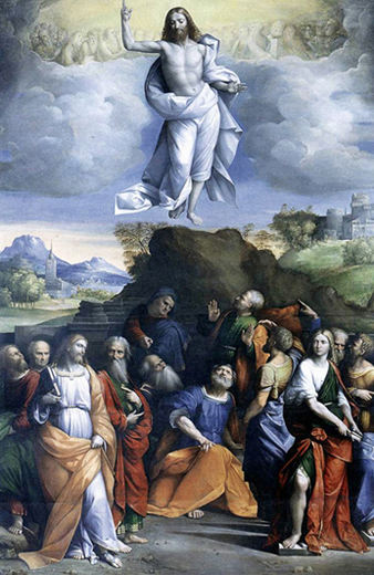 Garofalo - The Ascension of Christ,  Galleria Nazionale d'Arte Antica, Rome, 1515.