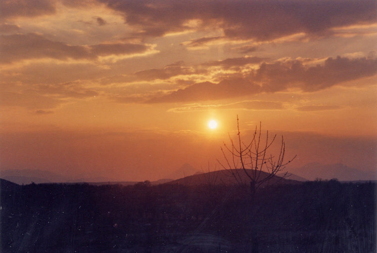 Look closely above the sun in this picture from Medjugorje, Bosnia-Hercegovina, taken on the afternoon of April 10, 1996.