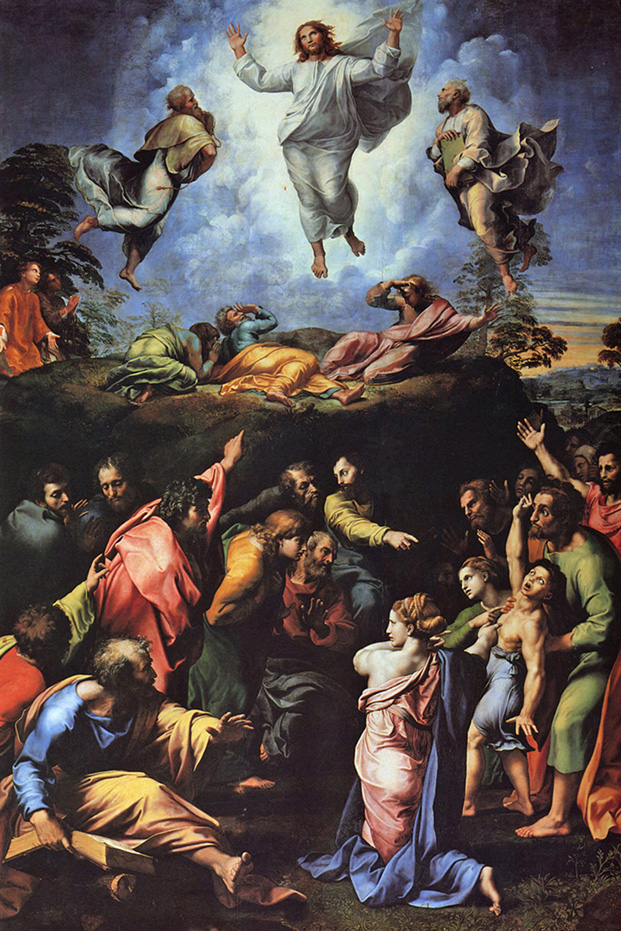 Raphael Sanzio - The Transfiguration of Jesus and the Cure of an Epileptic (Mark 9:2-28), Pinacoteca Vaticana, Rome, 1519.