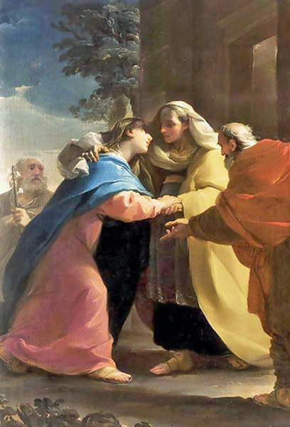Ubaldo Gandolfi - The Visitation of Mary to her Cousin Elizabeth, Bologna, 1767.